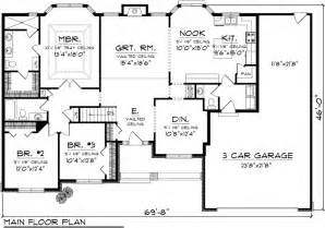 3 bedroom floor plans with garage ranch house plan 73301 ranch floor plans and ranch house