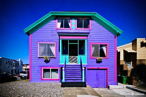 colorful homes colorful house in san francisco photo david yu