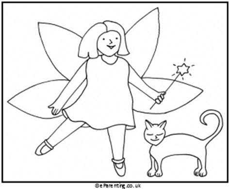 fairy cat coloring page fairy colouring pictures free printables