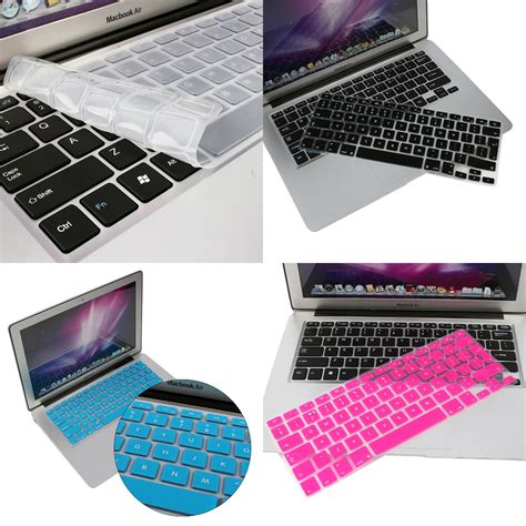Keyboard Cover Skin For Macbook 17 With Mac Pro Air Waterpro T2709 us eu silicone keyboard cover skin shell for macbook pro