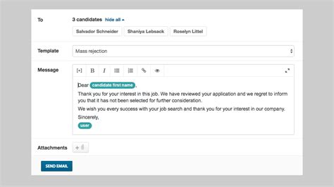 mass email templates sending mass recruiting emails to candidates sourcing