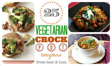vegetarian crock pot recipe round up