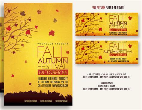 Fall Autumn Festival Flyer Fbcover Flyer Templates Creative Market Fall Flyer Template