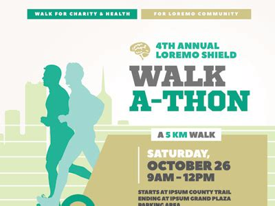 Walkathon Event Flyer Templates By Kinzi Wij Dribbble Walk A Thon Flyer Template