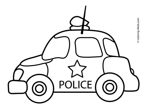 car coloring pages preschool police car transportation coloring pages for kids