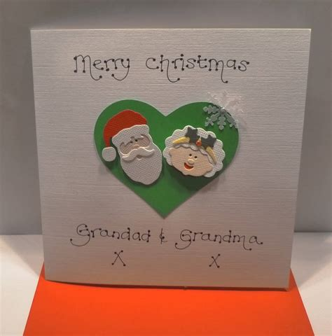 personalised mr and mrs claus christmas card by kitty s