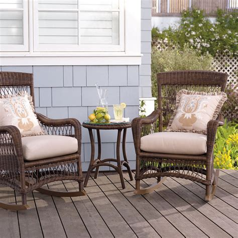 set of two providence rocking chairs with cushions