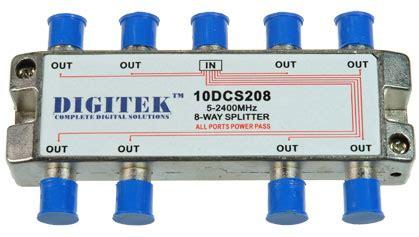 Scatv Splitter 6 Way Pacific 5 2400mhz 8 way splitter with power pass bit10dcs208 12 10 electriciansupplies electriciansupplies