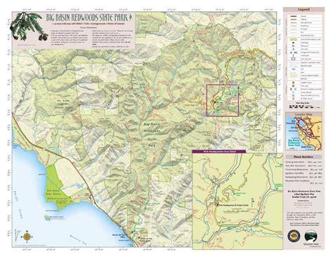 big basin trail map hiking in big basin