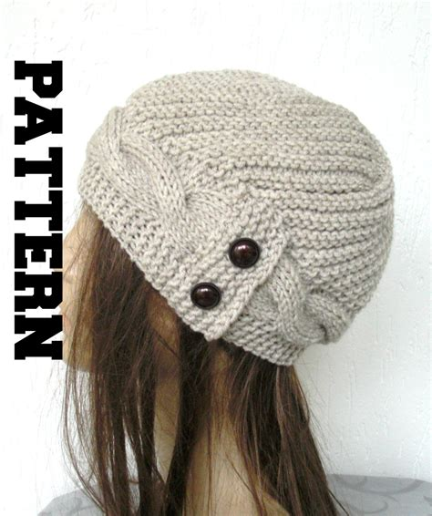 winter knitting pattern knit hat digital hat knitting