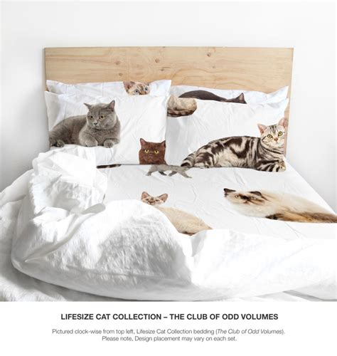 cat bed sheets the odd collective bedding by the club of odd volumes