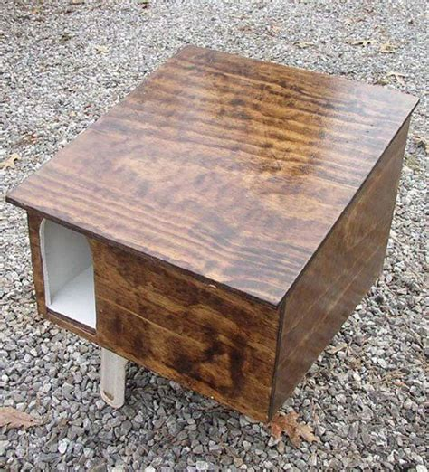 Home Interior Living Room Ideas Wooden Cat Box