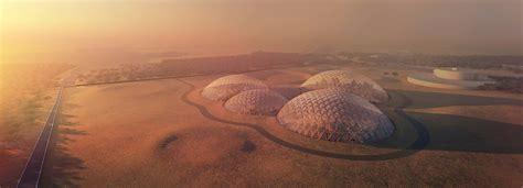 uae mars bjarke ingels to build massive mars space simulation city
