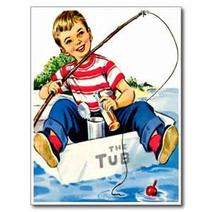 boy fishing retro happy birthday card boy gifts birthdays and boys