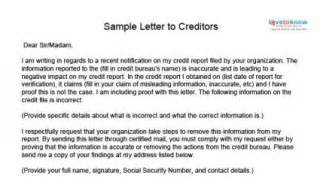 credit repair letter template letter template 2017