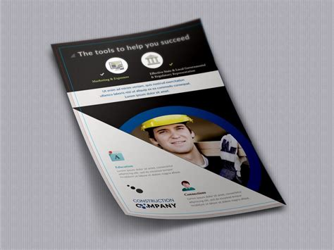 flyer template for construction company stationary order