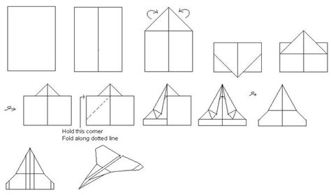 Pictures Of How To Make A Paper Airplane - how to make paper airplanes that fly far