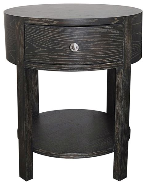 round bedroom table marlborough round bedside table transitional