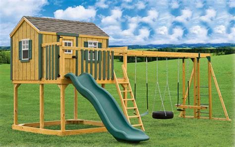 swing set playhouse playsets river view outdoor products