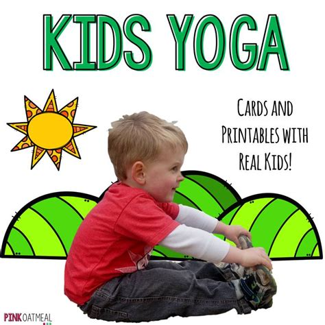 printable children s yoga cards yoga for kids pink oatmeal shop
