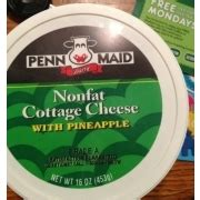 Cottage Cheese Nonfat Nutrition by Penn Dairy Nonfat Cottage Cheese With Pineapple