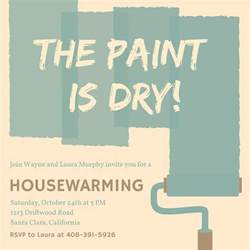 Housewarming Invites Templates by Paint Housewarming Invitation Templates By Canva