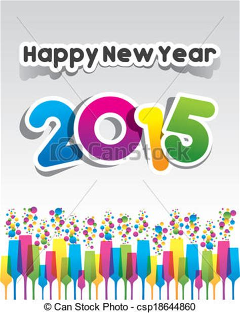 new year clip 2015 clip vector of happy new year 2015 greeting card