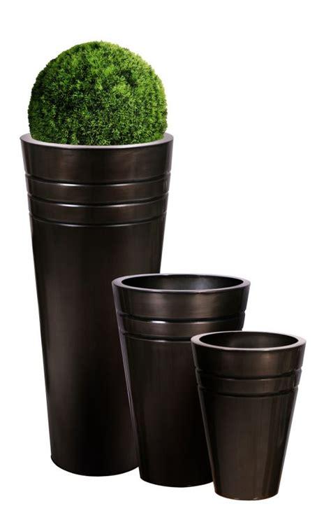 cache pots hauts ronds en zinc platine hauteur 90 cm 64 99