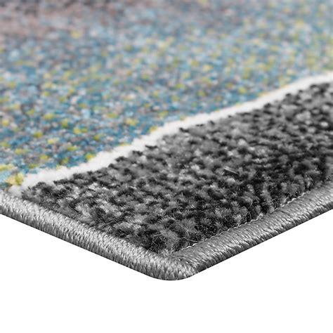 guide tappeti set tappeti guide motivo moderno 3 pz turchese grigio