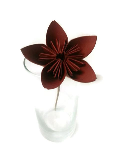Brown Origami Paper - sale hay stack brown kusudama origami paper flower with