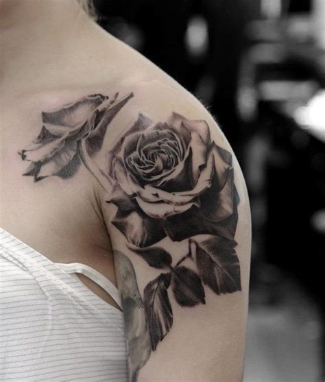 120 meaningful rose tattoo designs shoulder tattoo