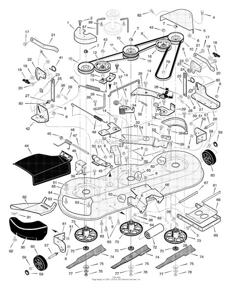 murray parts diagram murray 465306x31a lawn tractor 2004 parts diagram for