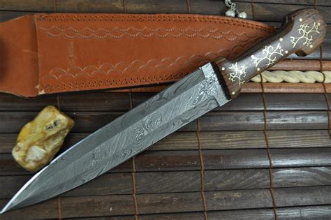 unique knives custom made damascus hunting knife unique design perkin