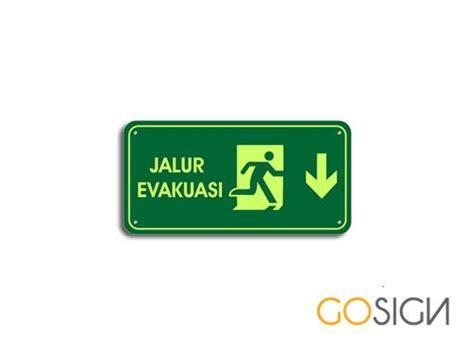 layout jalur evakuasi signage indonesia menjual door sign acrylic type b