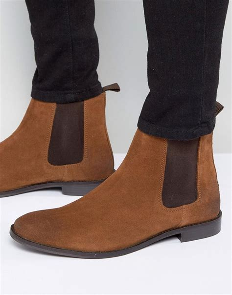 asos chelsea boots in suede wide fit available in