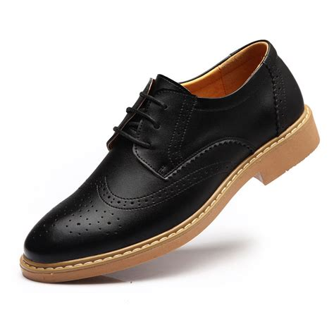 Handmade Leather Brogues - handmade mens black color oxford brogues leather sole