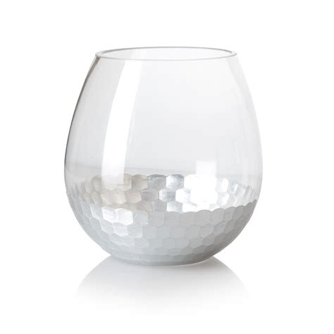 Oliver Bonas Vase by Small Silver Honeycomb Vase Oliver Bonas