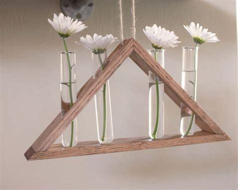 Vas Bunga Triangle Glass Vase rustic hanging laboratory bud vase triangle vase test