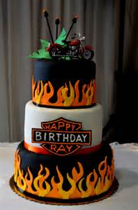 happy birthday harley davidson cake submited images