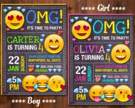 emoji invitation emoji birthday invitation emoji party