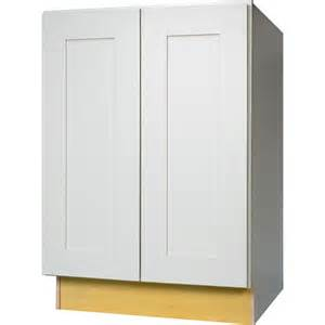Base Cabinet Height Kitchen 24 Inch Full Height Door Base Cabinet In Shaker White With