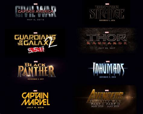 film marvel en 2016 marvel outs movie plans for 2016 to 2019