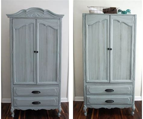 distressed blue gray armoire inspiration