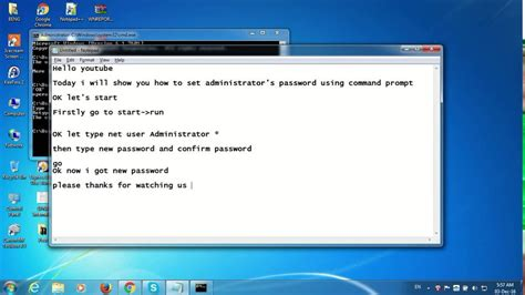 reset administrator password windows 7 youtube how to reset change administrator password in windows 7