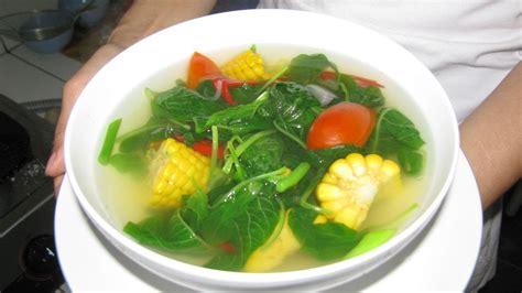 boiled spinach  corn recipe resep rebusan sayur