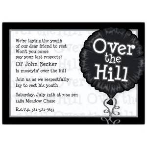 over the hill photo birthday invitations paperstyle