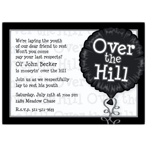the hill birthday card template the hill photo birthday invitations paperstyle
