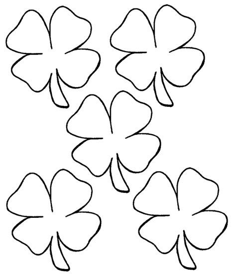 coloring pages clover leaf four leaf clover coloring page coloring home