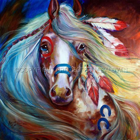 imagenes semifigurativas paintings indian war horse fearless by marcia baldwin