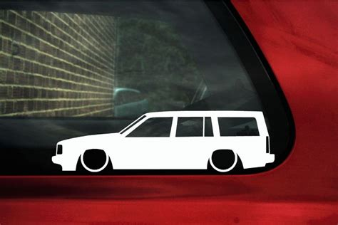volvo  station wagon outline silhouette stickers   turbo